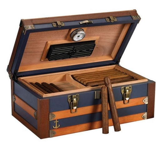 Admiral 120 Count Trunk Style Humidor