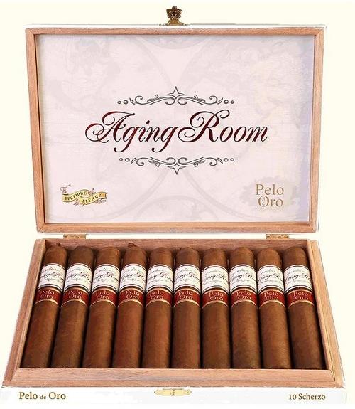Aging Room Pelo de Oro Scherzo (Toro) with Iconic Brand 9 Cigar Sampler for a Total of 9 Bonus Cigars