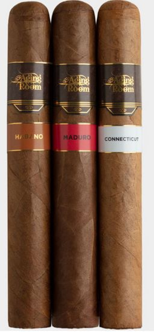 Aging Room by Rafael Nodel Core Maduro Major (Gordo) with Montecristo 12 Cigar Anniversary Sampler