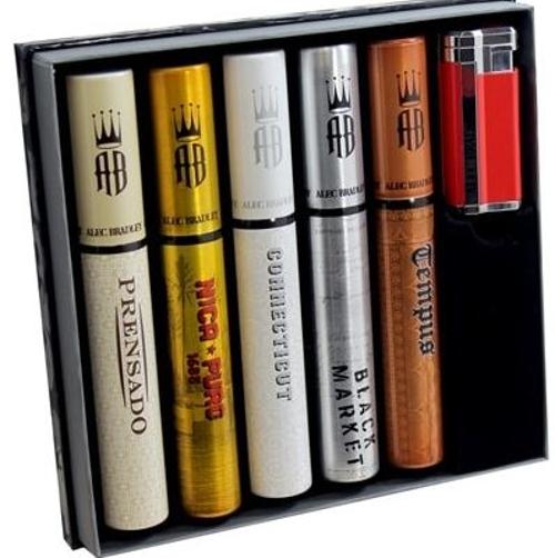 Alec Bradley Tubo Collection 5 Cigar Sampler with Lighter