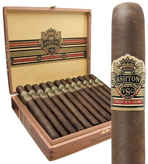 Ashton VSG Sorcerer (Churchill) with 40 Count Cigar Caddy Travel Humidor!!!