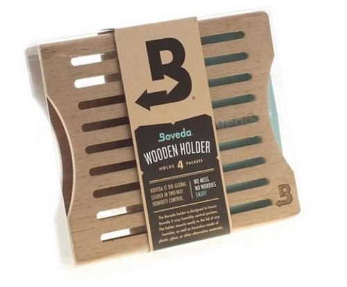 Boveda 60 Gram Humidi Pack Wood Holder for 4 Packs
