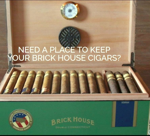 Brick House Humidor with Purchase of a Box of 25 Brick House Cigars...only $99.95
