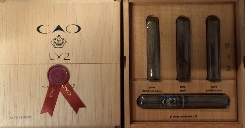C.A.O. Lx2 Elements 4 Cigar Puro Sampler (5 Cigar Samplers for a Total of 20 Cigars)