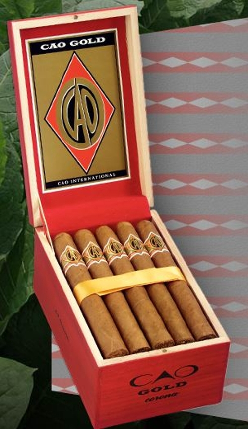 CAO Gold Mini Cigar Brick of 5 tins of 20