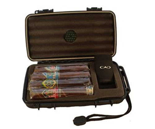 CAO World Tour Travel Humidor 4 Cigar Sampler with Lighter