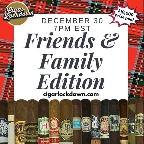 Cigar Lockdown Friends and Family Edition 17 Cigar Sampler (LIMIT 1)