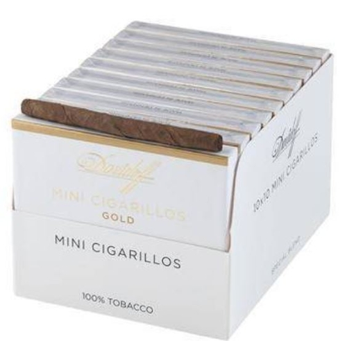 Davidoff Mini Cigarillos Gold (10 packs of 20)