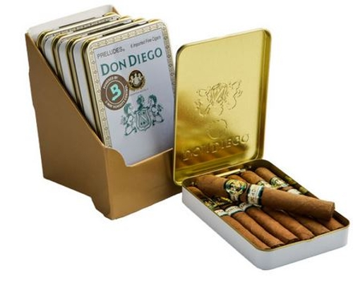 Don Diego Preludes (5 Tins of 6)