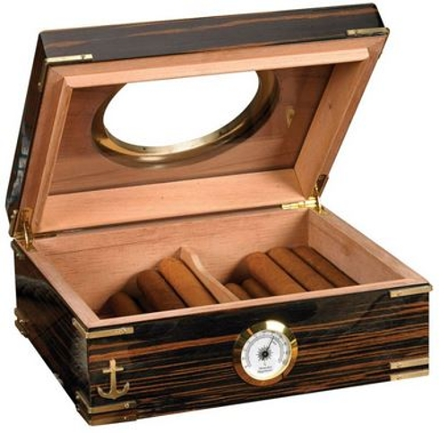 Gangway 50 Count Glass Top Porthole Cigar Humidor
