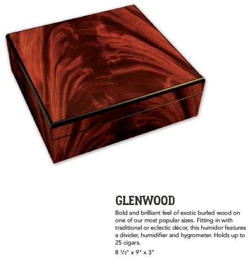 Glenwood CB 25 Count Cigar Humidor