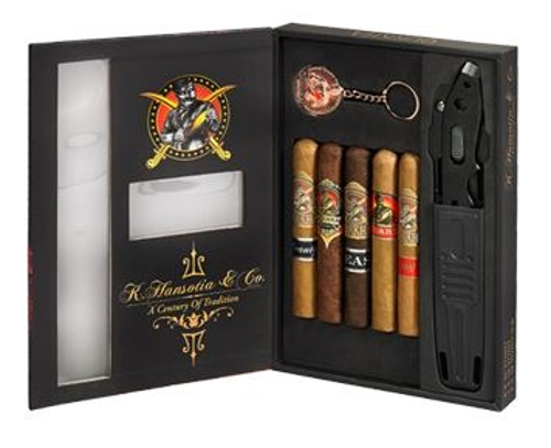 Gurkha 5 Cigar Gift Sampler with Knife