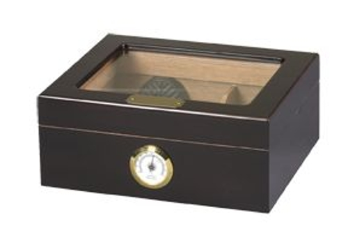 Capri 50 Glasstop 50 Count Cigar Humidor