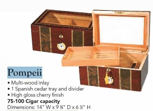 Pompeii 75-100 Count Cigar Humidor