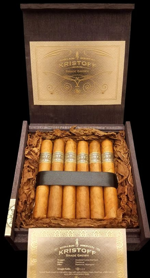 Kristoff Shade Grown Churchill with 5 Pack of Kristoff Brittania and a 5 Cigar Travel Case!!