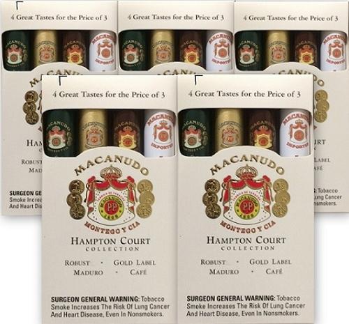 Macanudo 4 Tastes of Hampton Court Sampler (5 Samplers for 20 Cigars)