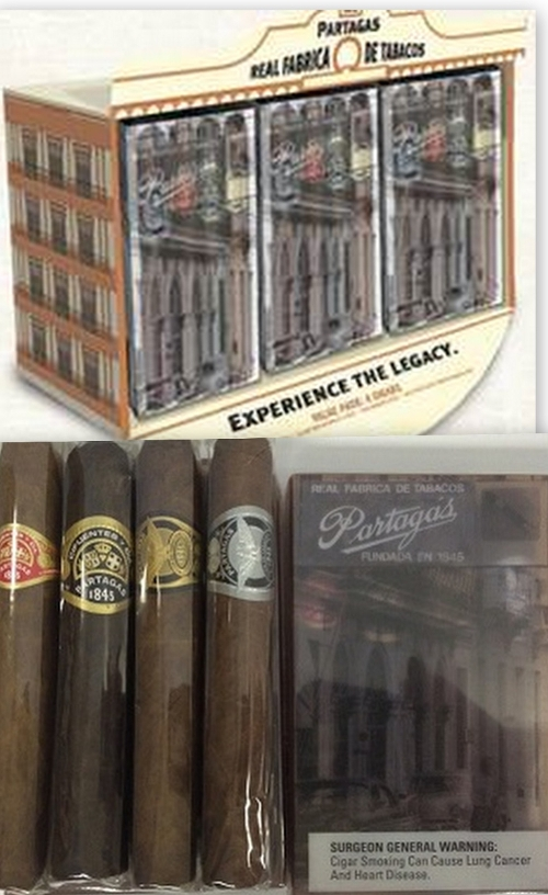 Partagas Value Pack 4 Cigar Sampler SAVE $5