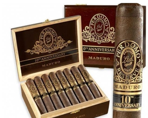 Perdomo 10 Year Maduro Churchill WELL AGED!!!! Cigars and Colibri Deep V Cutter...a $80 Value!!!