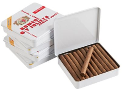 Romeo y Julieta Miniture White Tin (Brick of 5 Tins) SUPER DEAL!!
