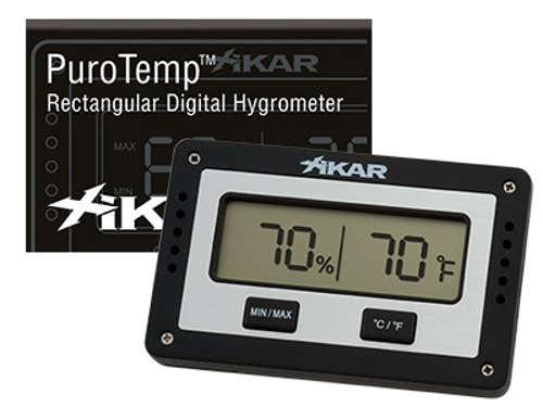 Xikar Rectangular Hygrometer