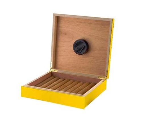 Yellow 20 Count Cigar Humidor