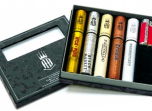 Alec Bradley Tubo World Selection 5 Cigar Sampler with Lighter SAVE $5 with Bighumidor.com Hat