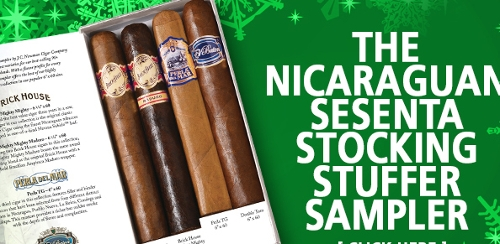 Nicaraguan Sesenta 4 Cigar Sampler (6 by 60)SAVE $5 with Bighumidor.com Hat