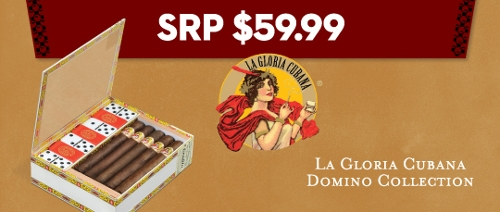 La Gloria 10 Cigars with Domino Set SAVE $20