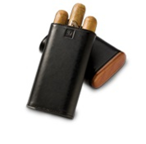 Cigar Carry Case Montecristo Signiture Black Holds 3 (6 by 60) Cigars